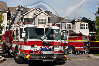 Firefighters from several area Fire Departments responded to the scene of a working fire on Hill Park Ct. in Chili, NY. At least four people were transported to area hospitals and the building suffered substantial damage. The fire is believed to have started on a balcony and is under investigation at this time.