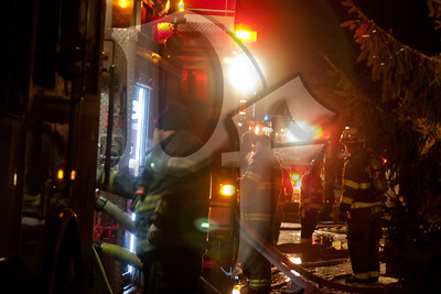 Firefighters from mulitple departments were needed to fight a fire on Varian Lane in Gates, NY. This was the second fatal fire within an hour in the town of Gates. January 20, 2012.