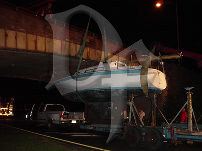 2005, September 20 - MVA, Boat vs Bridge, Lake Ontario State Parkway @ Greenleaf Rd, Lake Shore Fire District, Greece, NY (4370)