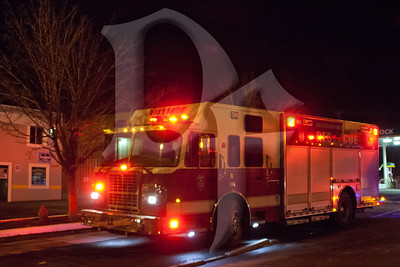 The Rochester Fire Department's brand new Rescue 11 parked at the scene of a 3rd alarm building fire on February 24, 2012.