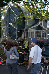 Rochester firefighters responded to Marion St. for a reported house on fire this evening. Car 1 arrived on location and declared a working fire on the 2nd floor. The fire was quickly knocked down with minimal exposure and was declared under control in under 20 minutes. The cause of the fire is under investigation.