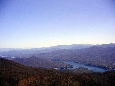 View of Fontana Lake from the Shuckstack Fire Tower<br /> Great Smoky Mountains National Park, TN