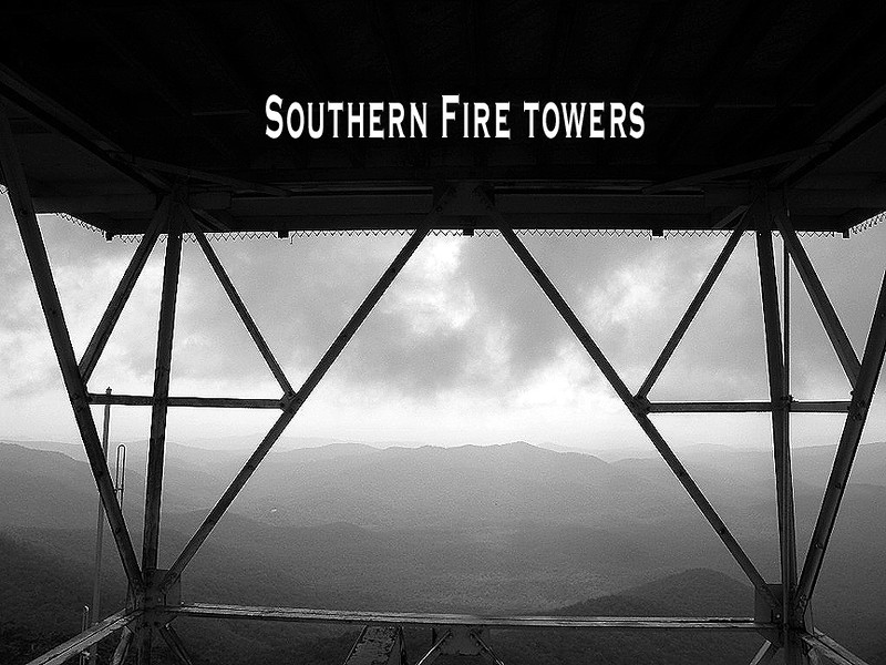 Inspired by Peter Barr's book North Carolina's Fire Towers I decided to collect trip photos of all the various fire lookout towers we've visited.  Some are in NC and many are in Tennessee. Future one's may be in Virginia or other states in the Southern Appalachians. The cover photo was taken while climbing the Frying Pan Mountain Tower.