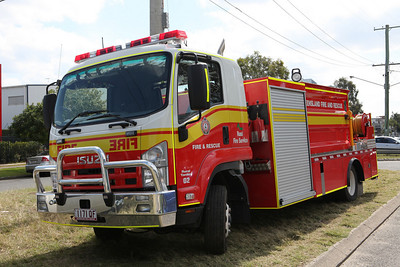 The new heavy support appliances are constructed on a 14 tonne two wheel drive Isuzu FTR700 cab chassis that has seating for 3 crew and has heat reflect curtains installed to provide crew burn-over protection.   The body has a 6000 litre water tank and is fitted with a fixed diesel fire fighting water pump and hose reel for self protection and carries a 12,000 litre portable dam along with a transportable diesel water transfer pump.   Other equipment includes a 2.2 kva portable generator and stem lighting to assist during night time activities as well as portable refrigeration and a shelter with folding table and chairs for a crew resting area during re-supply operations.  Each appliance also carry's a stock of replacement respirators, goggles, personal protection blankets and fire-fighting gloves as well as four additional drip torch fuel containers, two replacement drip torches and a range of fire hose and adaptors to support fire fighting operations.