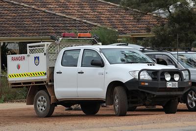 Toodyay plated ranger vehicle seen at Bindoon