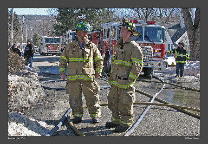 Warwick Excelsior Hose Company Safety Officer Andy Schork (left) with his son Stephen.