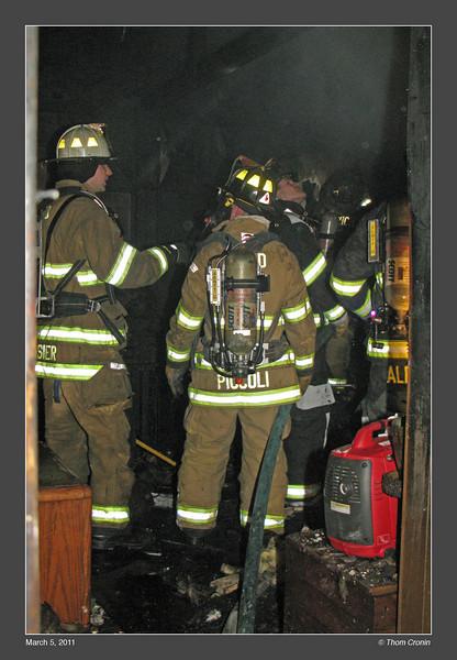 Interior crews check for extension.