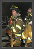 Firefighter Brendan Donohue takes a breather.