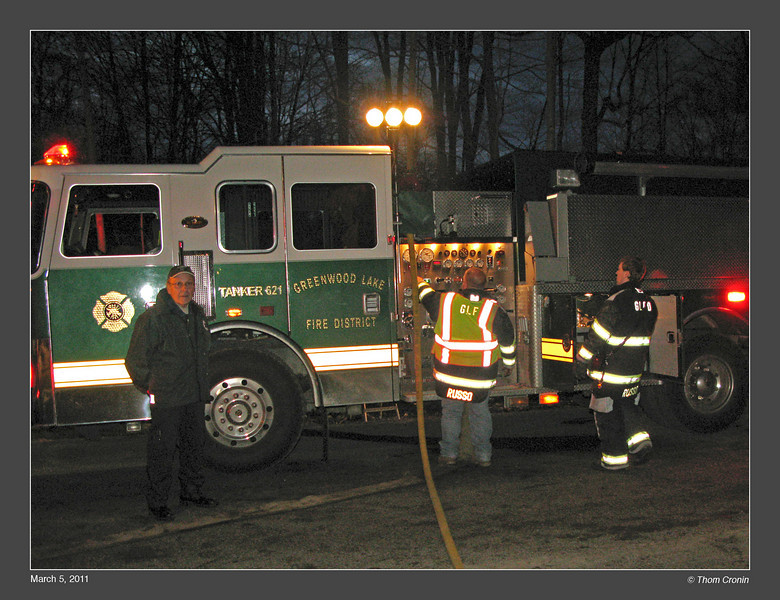 Greenwood Lake Tanker 621 was brought to the scene as a back-up while the draft site was being set up.