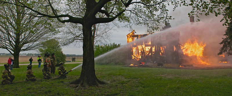 PGFD House Burn  North Side Pano