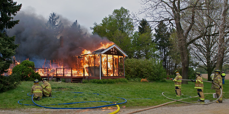 PGFD House Burn  Front Pano