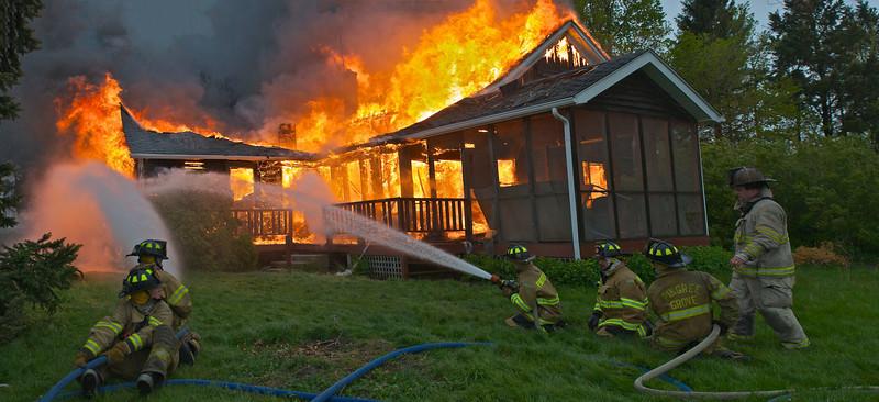PGFD House Burn  PGFD House Burn