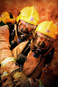 Fire and rescue service photographs