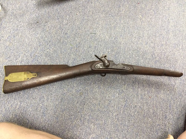 Stock, Lock Plate, Butt Plate, Hammer, Sling Ring - Original