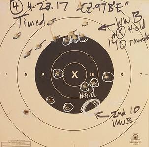 2017-4-23 bullseye practice Kadet and 97
