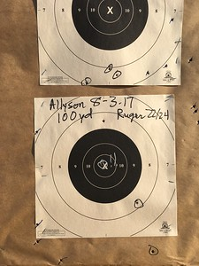 Allyson's x ring hit at 100 yards!!