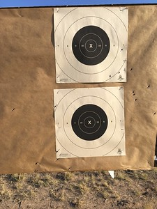 Allyson homing in on hold point at 100 yards with the Ruger