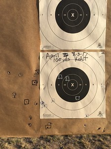 Aprils final 20 rounds in square boxes at 100 yards