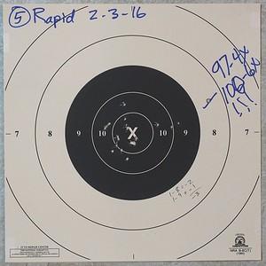 Pistol Range 2-3-16 100 timed 100 rapid