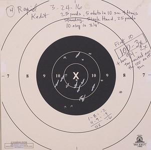 Pistol Range 3-24-16