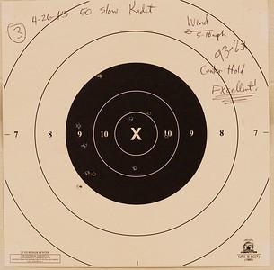 Pistol Range 4-26-15 Kadet Slow Fire Target