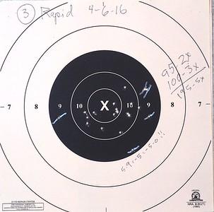 Pistol Range 4-6-16 100 rapid
