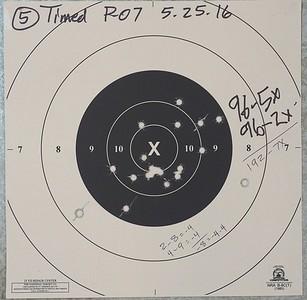 Pistol Range 5-25-16 P-07 BE Practice