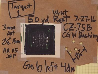 Pistol Range 7-27-16 50 yd 75B 9mm