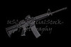 AR15 M4A1 Style Weapon USA Combat Automatic Rifle on black