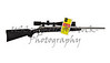 Rifle high power tactical sniper weapon with long range scope