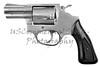 Pistol Revolver Firearm Gun Isolated On White Background