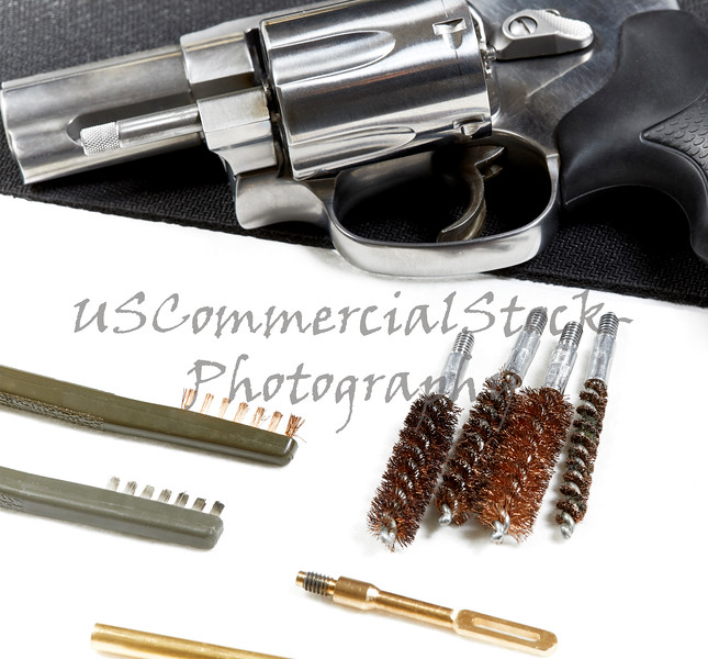 Revolver with Gun Cleaning Tools