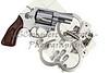 Gun with handcuffs and fingerprint ID for criminal arrest