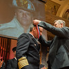 Massachusetts  Governor Charlie Baker awards Fitchburg Chief of Department Kevin Roy a Medal of Valor for his actions on February 10th at 176 Walton St. The 27th Annual Massachusetts Firefighter of the Year Awards were held at Mechanics Hall in Worcester. SENTINEL&ENTERPRISE/ Jim Marabello