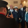 Fitchburg FF John Girouard (2nd from right) poses for a picture with his parents and Captain Anthony Marrama after the 27th Annual Massachusetts Firefighter of the Year Awards held at Mechanics Hall in Worcester. Marrama, Girouard and the rest of Group 4 were awarded a Group Citation for Meritorious Conduct. SENTINEL&ENTERPRISE/ Jim Marabello