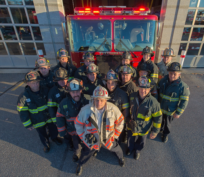 Members of Fitchburg Fire Dept Group 4 who were were honored by the Commonwealth for their bravery during a double fatal second Alm fire at 127 Walton St during the 27th Annual Firefighter of the Year Awards held at Mechanics Hall in Worcester. SENTINEL&ENTERPRISE./ Jim Marabello