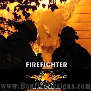 Firefighter Logo Flames