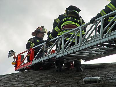 Budd Lake Firefighters Drill in Abandon Restaurant