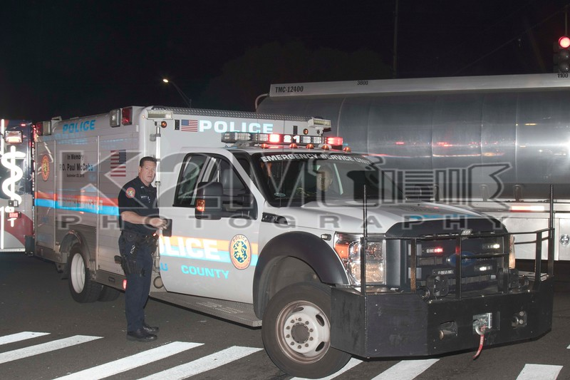 Monday, July 1st, 2019: the Bellmore FD, NCPD ESU, and Bellmore-Merrick EMS responded to the scene of a car versus tanker with possible entrapment on Sunrise Highway at Newbridge Road.  Upon arrival firefighters found a two-vehicle accident with no entrapment.  The driver of the Cadillac was not seriously injured and the truck driver was not injured.