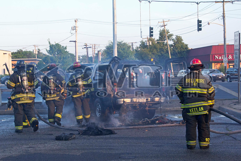 Monday, June 30th, 2014: the Bellmore Fire Department was alerted to a reported car fire at the Bellmore Train Station.  When fire department units arrived on scene they were met with a working car fire.  Bellmore Engine 601 stretched their car pack off the front of the rig and extinguished the fire.  The occupant[s] of the vehicle made it safely out of the vehicle and was evaluated by medical personnel on scene.