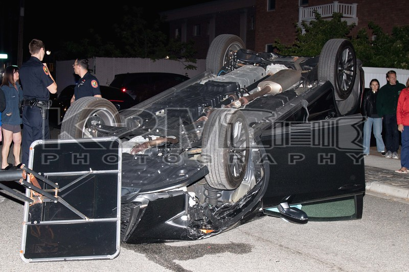 Sunday, May 21st, 2017: The Bellmore FD and NCPD operated on the scene of a motor vehicle accident with overturn on Prospect Place off Merrick Road.  When first responders arrived, they found that an SUV overturned after striking two parked cars.  There was no entrapment and injuries were considered minor.