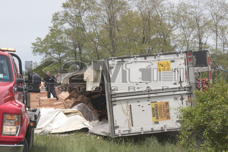 Monday, May 18th, 2020: around 08:20 hours the Bethpage Fire Department was called to an overturned tractor trailer on Route 135 at Hempstead Turnpike. Firefighters responded to the scene and found the accident on the ramp from eastbound Hempstead Turnpike to the southbound Route 135; however, no fire department action was needed. The truck, which was carrying supplies for Burger King, was offloaded and up righted hours later.
