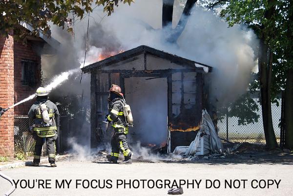 Fulton Street Shed Fire