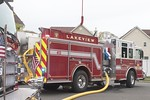 Lakeview Engine 413 on the scene of a house fire on Ossipee Court in Lakeview [5-6-20].