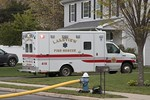 Lakeview Ambulance 418 on the scene of a house fire on Ossipee Court in Lakeview [5-6-20].