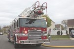 Lakeview Ladder 411 on the scene of a house fire on Ossipee Court in Lakeview [5-6-20].
