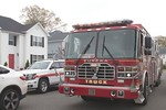 Rockville Centre Ladder 447 [former Elmont Ladder 707] on the scene of a Lakeview house fire [5-6-20].