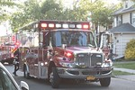 Hicksville EMS on the scene of a house fire on Lenox Avenue in Hicksville [5-21-20].