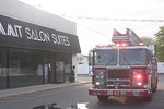 Oceanside Ladder 2442 on the scene of a Long Beach Road building fire [5-30-20].