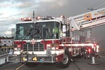 North Lindenhurst Ladder 1-11-4 on the scene of a building fire on Route 109 in East Farmingdale [1-26-20].
